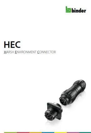 Binder HARSH ENVIRONMENT CONNECTOR