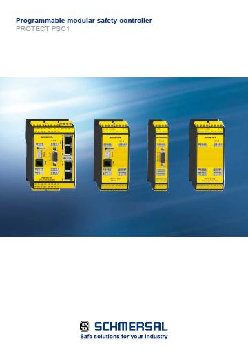Schmersal programmable modular safety controller PROTECT PSC1